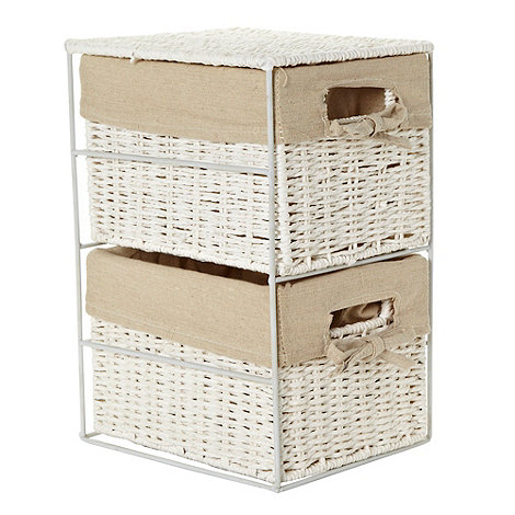 Debenhams - White rope two-drawer storage set