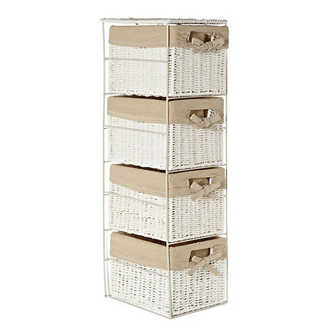 Debenhams - White rope four-drawer storage set