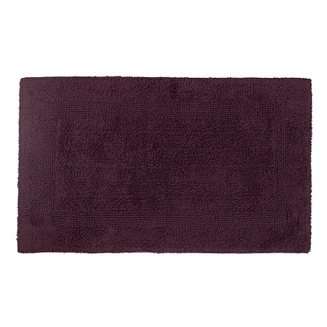 Debenhams - Dark purple reversible bath mat