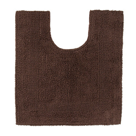 Home Collection - Brown pedestal bath mat