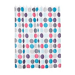 Home Collection - Blue spotted shower curtain
