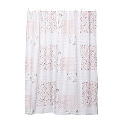 Home Collection - Pink vintage floral shower curtain