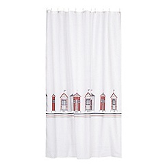 Home Collection - White beach huts shower curtain