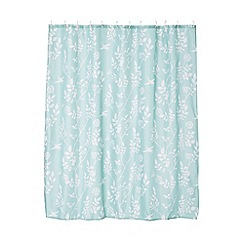 Home Collection - Turquoise bird print shower curtain