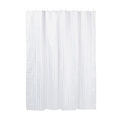Home Collection - White satin striped shower curtain