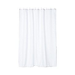 Home Collection - White waffle textured shower curtain