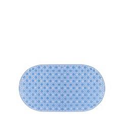 Debenhams - Blue non slip PVC bathmat
