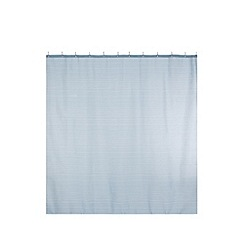 Home Collection - Aqua striped shower curtain