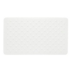 Home Collection - White textured rubber bath mat