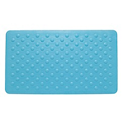 Home Collection Basics - Aqua textured rubber bath mat