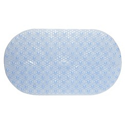 Home Collection Basics - Blue textured PVC bath mat