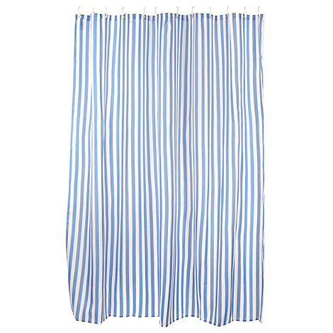 Home Collection - Blue striped +Coastal+ shower curtain