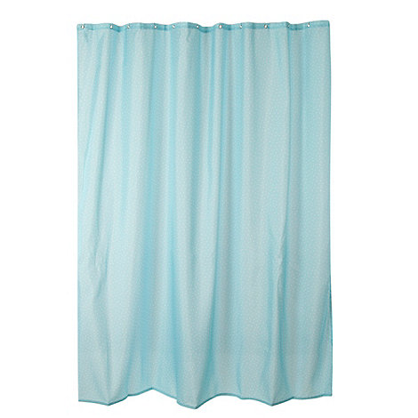 Home Collection - Light blue polka dot printed shower curtain