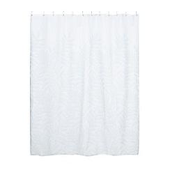 Home Collection - Aqua 'Gustavian Fern' shower curtain