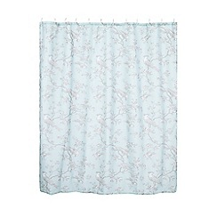Home Collection - Aqua 'Gustavian Bird' shower curtain