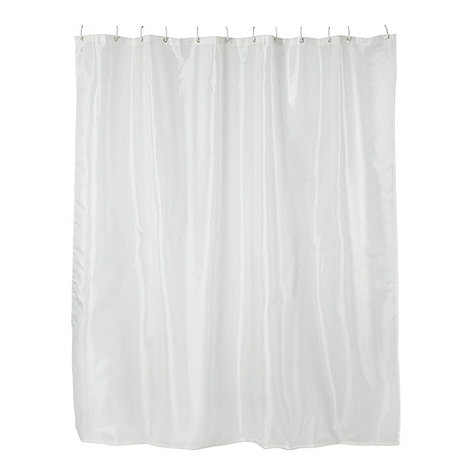Home Collection Basics - Cream solitaire shower curtain