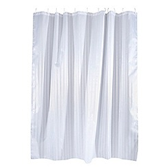 Home Collection Basics - White striped shower curtain