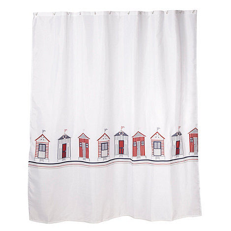 Home Collection - White 180 x 180cm beach huts shower curtain