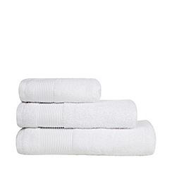 J by Jasper Conran - Designer white Egyptian cotton towel