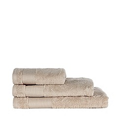 J by Jasper Conran - Designer taupe Egyptian cotton towel