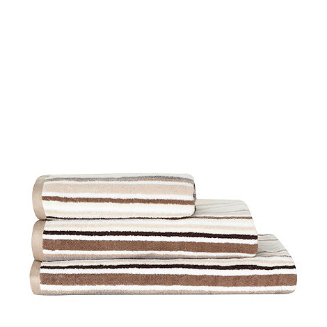 Ben de Lisi Home - Beige striped +Bronx+ cotton towel