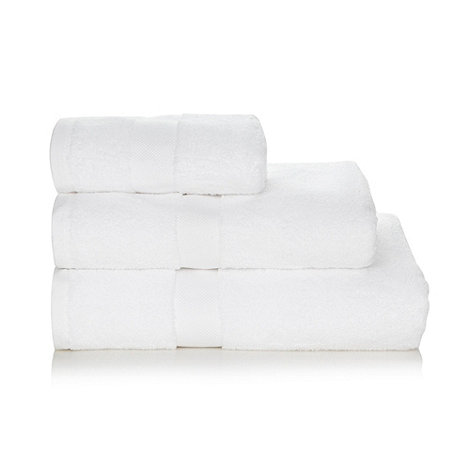 J by Jasper Conran - White +Zero Twist+ Egyptian cotton towels