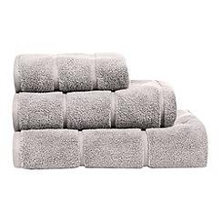 J by Jasper Conran - Designer pale grey textured stripe towel