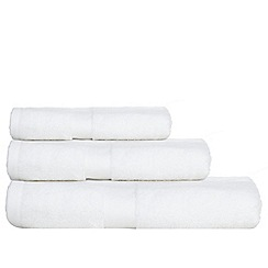 J by Jasper Conran - White 'Zero Twist' cotton towels