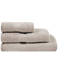 J by Jasper Conran - Designer natural zero twist cotton towel