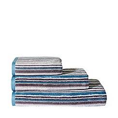 Ben de Lisi Home - Grey striped 'Noah' cotton towels