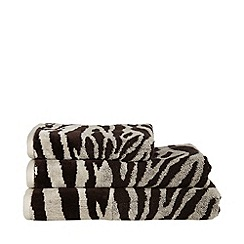 Star by Julien Macdonald - Designer natural velour header animal towel