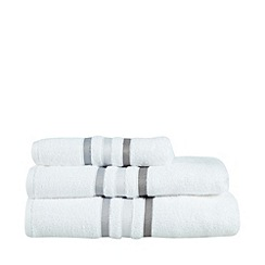 J by Jasper Conran - White tonal striped cotton towel
