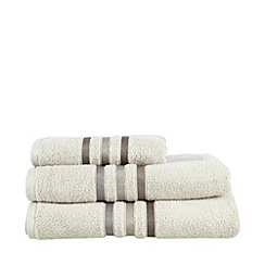 J by Jasper Conran - Beige tonal striped cotton towels