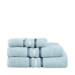 J by Jasper Conran - Light blue tonal striped cotton towels