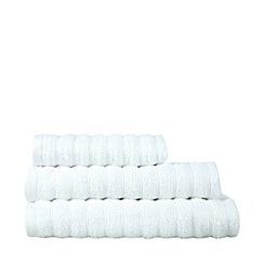J by Jasper Conran - Designer white textured stripe towel