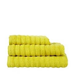 J by Jasper Conran - Designer lime textured stripe towel
