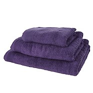 Half-price sale on Debenhams Dark purple combed cotton towels