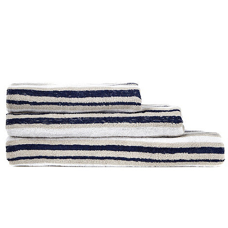 Kingsley - Navy multi-striped cotton towels