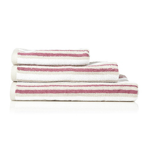 Kingsley - Plum multi-striped cotton towels
