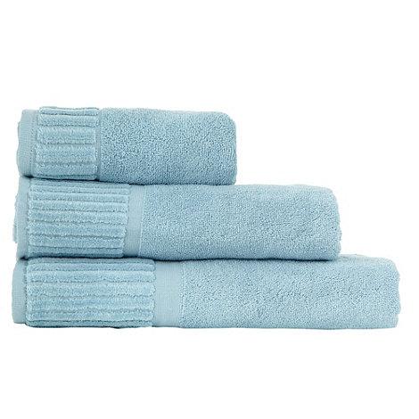 Jeff Banks Home - Blue +Piano Key+ cotton towels