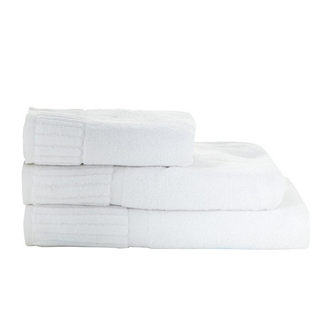 Jeff Banks Home - White +Piano Key+ cotton towels