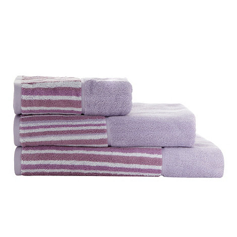 Jeff Banks Home - Lilac striped border cotton towels
