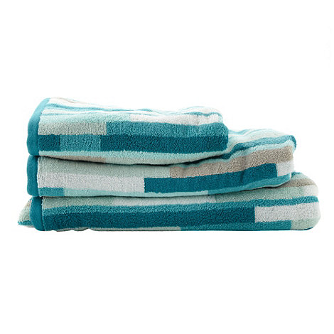 Ben de Lisi Home - Turquoise +Manhattan Block+ cotton towels