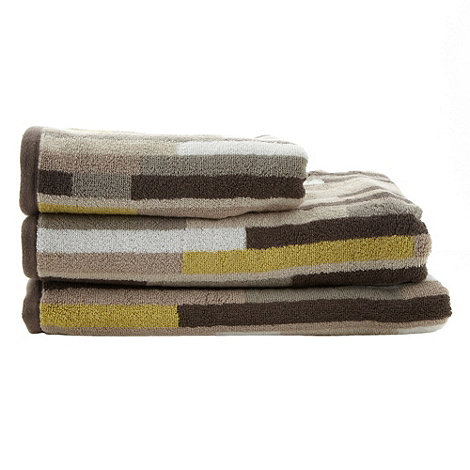 Ben de Lisi Home - Beige +Manhattan Block+ cotton towels