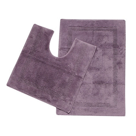 Christy - Mauve tufted pedestal and bathmat set
