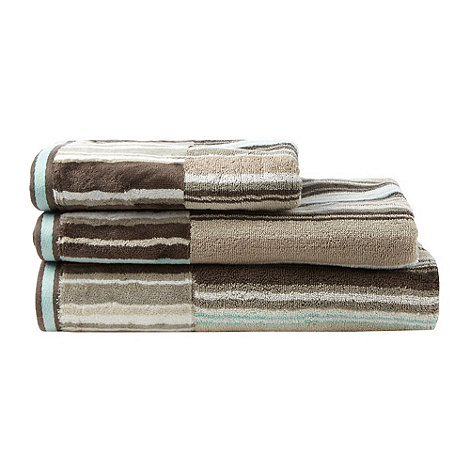 Ben de Lisi Home - Brown multi-striped +Toronto+ cotton towels