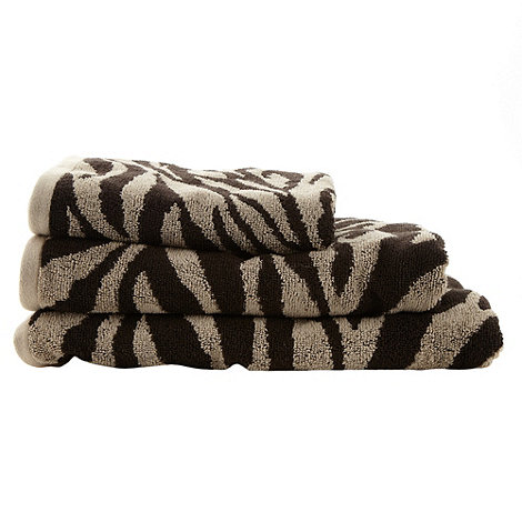 Star by Julien Macdonald - Beige animal print cotton towels
