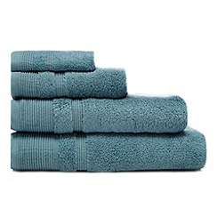 RJR.John Rocha - Dark turquoise luxury cotton towel