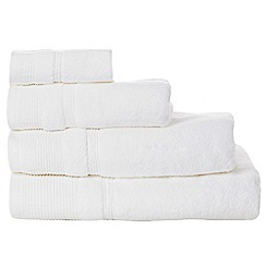 RJR.John Rocha - White luxury cotton towels