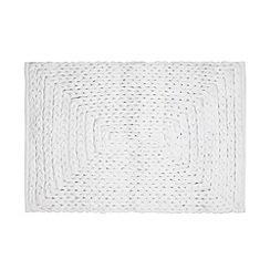 RJR.John Rocha - Designer white plaited bath mat